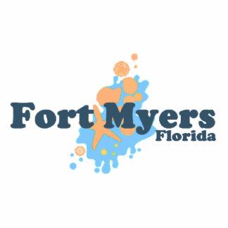 Fort Myers Beach. Photo Sculpture Magnet
