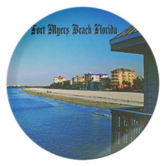 Fort Myers Beach Party Plate