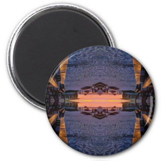 Fort Myers Beach Psychedelic 6 Cm Round Magnet