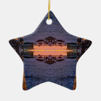 Fort Myers Beach Psychedelic Ceramic Ornament