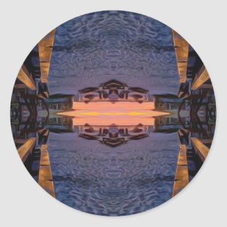 Fort Myers Beach Psychedelic Classic Round Sticker