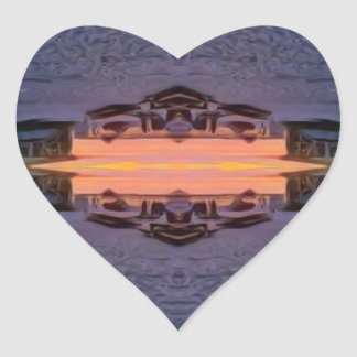 Fort Myers Beach Psychedelic Heart Sticker