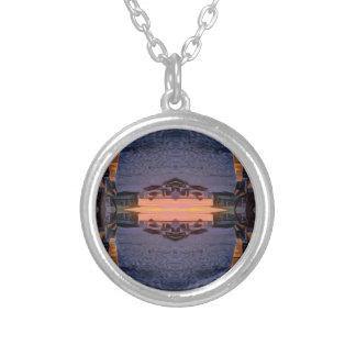 Fort Myers Beach Psychedelic Silver Plated Necklace