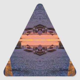 Fort Myers Beach Psychedelic Triangle Sticker