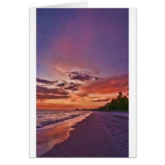 Fort Myers Beach Sunset Card