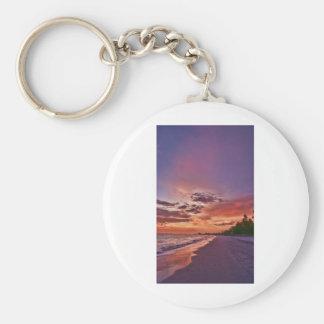 Fort Myers Beach Sunset Key Chain