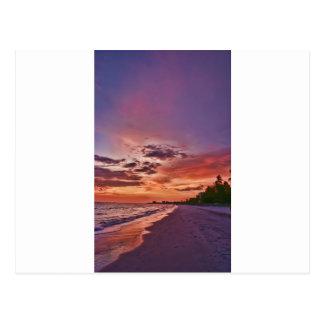 Fort Myers Beach Sunset Postcard
