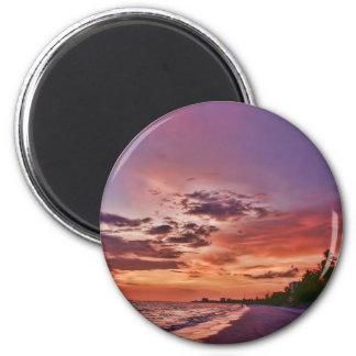Fort Myers Beach Sunset Refrigerator Magnet