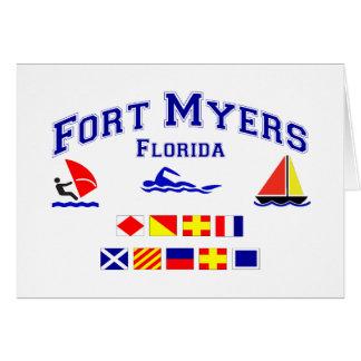 Fort Myers FL Signal Flag Card