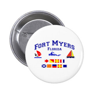Fort Myers FL Signal Flag Pin