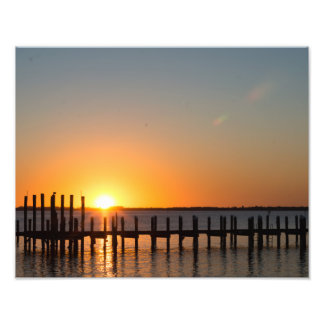 Fort Myers, Florida beautiful orange sunset Photo Print