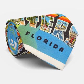 Fort Myers Florida FL Old Vintage Travel Souvenir Tie