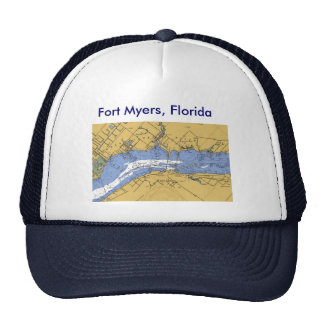 Fort Myers, Florida Nautical Harbor Chart hat