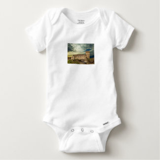 Fort on the hill baby onesie