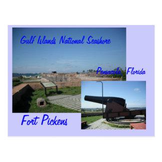 Fort Pickens, Pensacola, Fl... Postcard