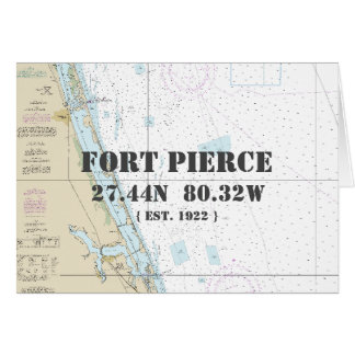 Fort Pierce Florida Nautical Navigation Chart Card
