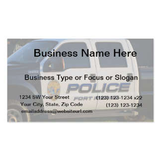 fort pierce police department pickup truck closeup business card templates