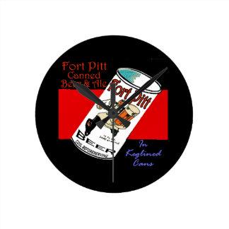 Fort Pitt Beer Round Clock