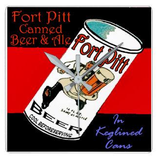 Fort Pitt Beer Square Wall Clock