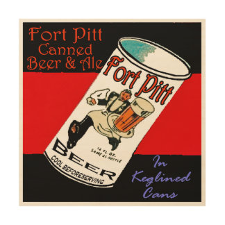 Fort Pitt Beer Wood Print