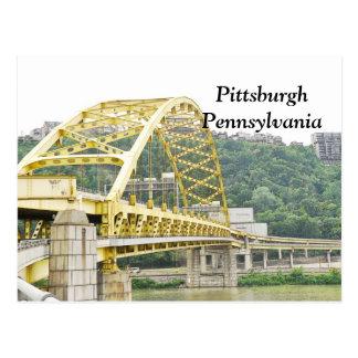 Fort Pitt Bridge in Pittsburgh Pennsylvania Postcard