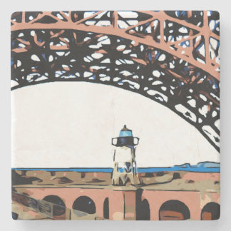 FORT POINT LIGHT STONE COASTER