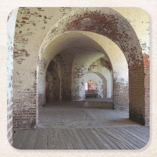 Fort Pulaski Hall Square Paper Coaster