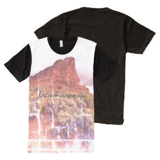 Fort Rock Oregon distressed photo All-Over Print T-Shirt