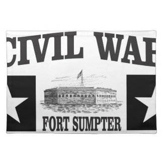Fort sumpter double star placemat
