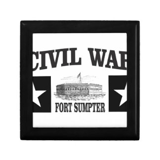 Fort sumpter double star small square gift box