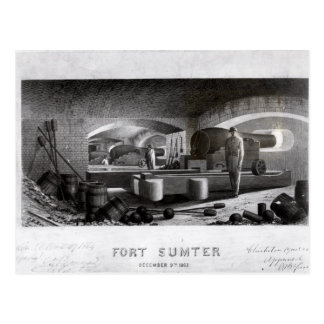Fort Sumter, Interior View of Three Gun Battery Postcard