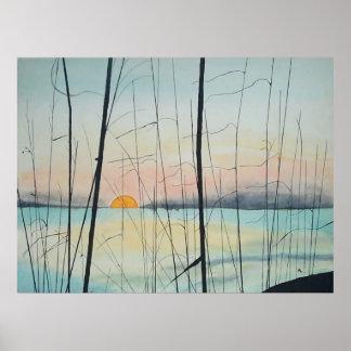 Fort Walton Beach Sunset Poster