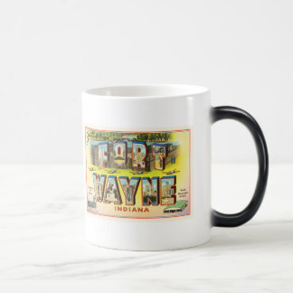 Fort Wayne #2 Indiana IN Vintage Travel Souvenir Magic Mug