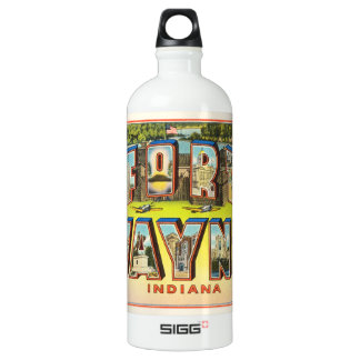 Fort Wayne #2 Indiana IN Vintage Travel Souvenir SIGG Traveller 1.0L Water Bottle