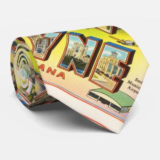 Fort Wayne #2 Indiana IN Vintage Travel Souvenir Tie