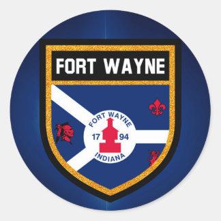 Fort Wayne Flag Classic Round Sticker