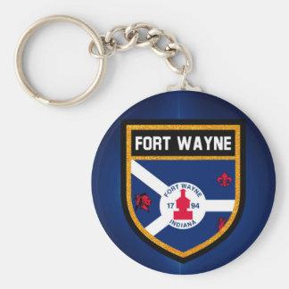 Fort Wayne Flag Key Ring