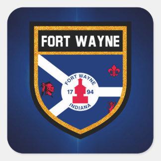 Fort Wayne Flag Square Sticker