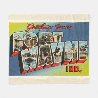 Fort Wayne Indiana IN Old Vintage Travel Souvenir Fleece Blanket