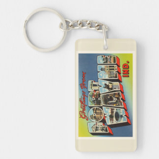 Fort Wayne Indiana IN Old Vintage Travel Souvenir Key Ring