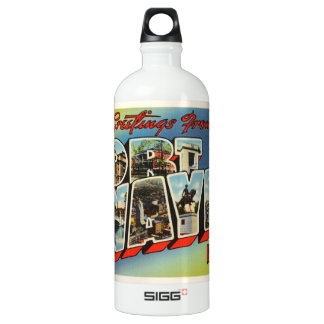 Fort Wayne Indiana IN Old Vintage Travel Souvenir SIGG Traveller 1.0L Water Bottle