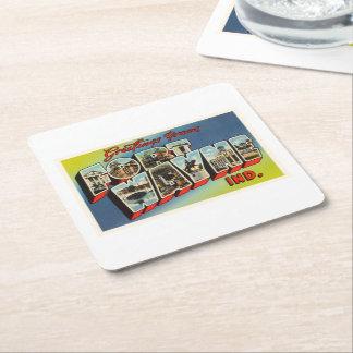 Fort Wayne Indiana IN Old Vintage Travel Souvenir Square Paper Coaster