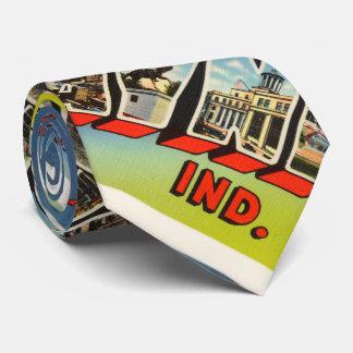 Fort Wayne Indiana IN Old Vintage Travel Souvenir Tie