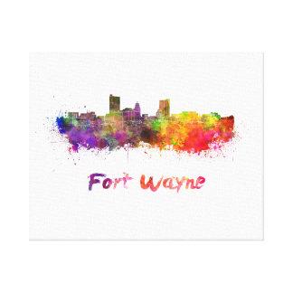 Fort Wayne skyline in watercolor Canvas Print