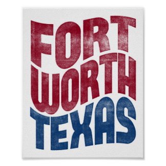 Fort Worth Poster Texas Typography