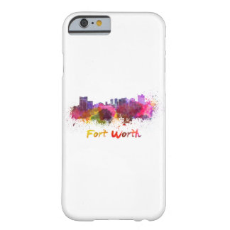Fort Worth skyline in watercolor Barely There iPhone 6 Case