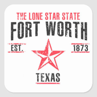 Fort Worth Square Sticker