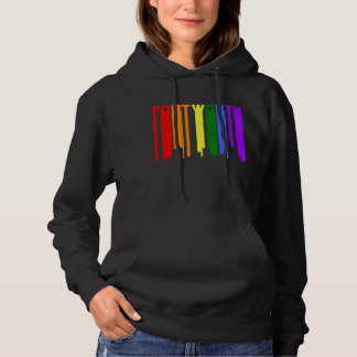 Fort Worth Texas Gay Pride Rainbow Skyline Hoodie