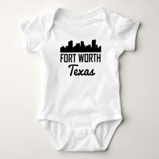Fort Worth Texas Skyline Baby Bodysuit