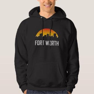 Fort Worth Texas Sunset Skyline Hoodie